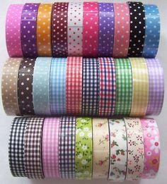 1 Roll of Decorative Cotton Fabric Stick on Tape Adhesive Ribbon Trim Polka Dot