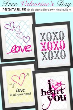 Free Valentine's Day Printables #graphicdesign #printables #valentinesday