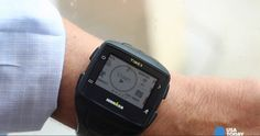Timex smartwatch, no phone needed. GPS enabled. Very pricey @ $400.