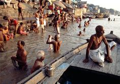 Ganges River - Hindus regard the Ganges River in India as sacred. They believe bathing in the river washes away a person's sins.