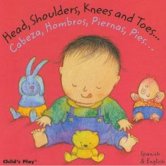 "Bilingual Board Book - Awesome little book that teaches ""Head, Shoulders, Knees and Toes"" in both English and Spanish.  A great song/activity for young children!"