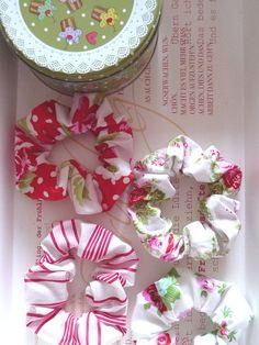 DIY Fabric Scrap Scrunchies - Stocking Stuffer Gift Idea for Girls