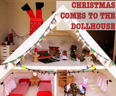 Christmas Comes to the Dollhouse: Inspire your child's imaginative play (or any holiday!)
