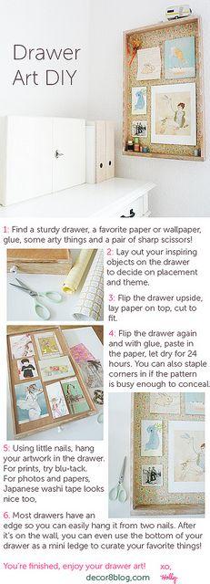 DIY Drawer Art on decor8 by decor8, via Flickr