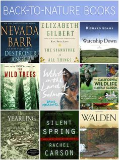 Back-to-Nature Reading List. Perfect for spring reading!