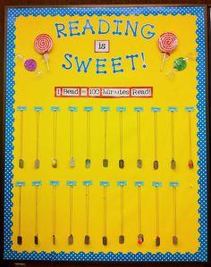 Reading is Sweet! Cute idea!