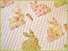 T. in the Burg: Bunny Quilt, close up craft, easter, bunni quilt, babi quilt, children, burg, quilt idea, bunni luv, crazi quilt
