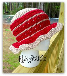 Southern Comfort - A Free Summer Hat Designed for the Crochet For Cancer Organization - ELK Studio - Handcrafted Crochet Designs