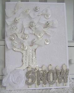 very cute white Christmas card