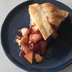 Rustic Pear-Cranberry Tart Recipe | Epicurious.com