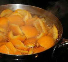 Make your house smell good by boiling orange peels, you can also add vanilla or cinnamon