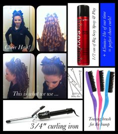 Cheer Hair- products we use!