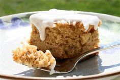 Sugarless banana cake recipe (glaze is not sugarless, but I could totally make it so)