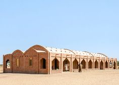 Dutch firm Levs Architecten used unfired clay bricks from local mines to build the barrel-vaulted structure of this primary school on one of Mali's vast plains