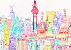 Berlin Towers illustration by Chetan Kumar http://cheism.com/
