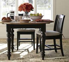 Keaton Round Fixed Dining Table - Artisanal Black stain #potterybarn - $699