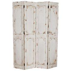 White rustic room divider #screen - Zanui.com.au