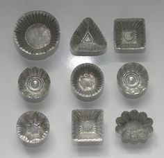 Early Vintage Set of 9 Fancy Tin French by SeaGlassPrimitives, $14.00