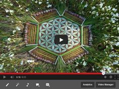 Flower of Life Meditation Mandalas made from nature