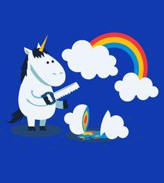 Rainbow - T-Shirt - schönes laFraise Design von ndikol