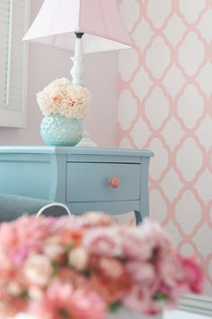 love.  like I did in the powder room... but so delicate in a little girls room