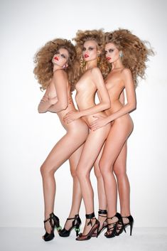 Eniko Mihalik, Magdalena Frackowiak, and Abbey Lee Kershaw by Terry Richardson.