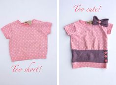 Great blog about making little girl clothes last - good tips about re-purposing existing clothes