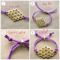 Hex Nut Bracelet Diy Instructions