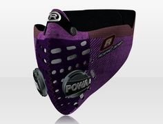 Respro® Skins™ pollution mask - HERRINGBONE Purple #matchyourstyle