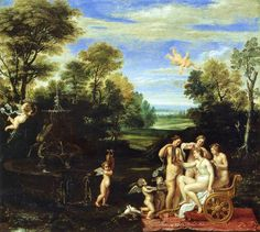 #Annibale #Carracci - Landscape with the Toilet of #Venus. Wikipedia