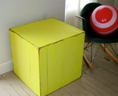 2 DAY SALE The Caspar Nightstand Side Table in Citron Yellow. $179.00, via Etsy.