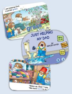 Just Helping My Dad Book App - cute story, with picture-word association.  A great early reader app.  #kidsapps #books #kidlit #ece #fathersday