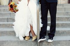Love the Toms wedding shoes!