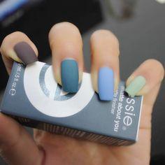 Matte nails..beautiful colours!