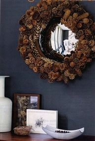 Recycle Reuse Renew Mother Earth Projects: Winter Project Pinecone Mirror