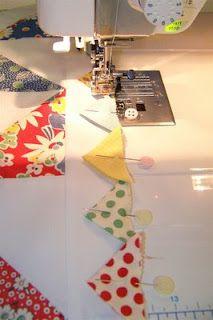 Moda Bake Shop: Pinwheel Baby Quilt with inner prairie points.