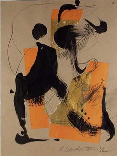 artists, art ii, orang, color combos, abstract art, contemporary art, paint, art wishlist, veronica constantin