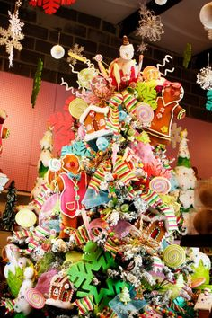 Visions of Sugar Plums. sugar plum, candyland christma, candy trees, christmas tree ideas, amaz christma, bisuteria1, candi tree, christma tree, christmas trees