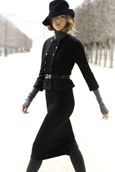 Suit christians, fashion, winter style, christian dior, suit, winter outfits, chic dior, black, hat