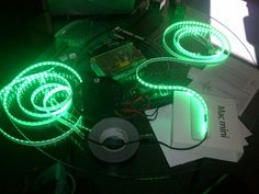 Color LEDs for NHRA touch screen experience...