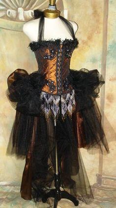 The Copper Alice Vampire Corset Steampunk Tulle Costume