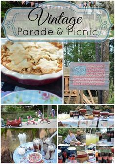 Vintage Parade & Picnic Party! Perfect for any season when the weather is wonderful! #yardgames #picnicparty #kidsparty #outdoorentertaining #vintageyardgames #stringart