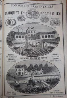 Port Louis. Publicité Marquet frères Conserves alimentaires (sardines). 1882.