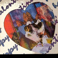 Venice Knoblock Rioux - Leaves, hearts, styrofoam...love! Gelli-licious Valentine's