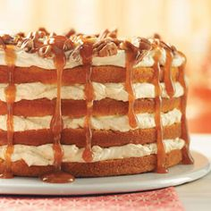 Pumpkin Torte with caramel