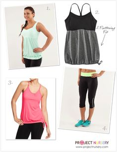 Flattering Workout Clothes for Your Post-Partum Belly  #workoutclothes #lululemon #oldnavy