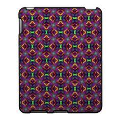 Purple Tulip Fractal Patterned Ipad Case $56.20