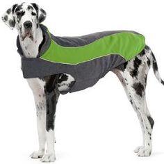 Kakadu Pet Explorer Fleece Reflective Dog Coat, 30`, Grass (Green)