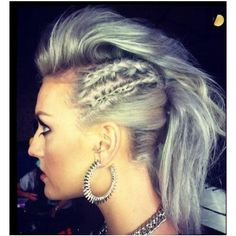 grey hair, perri edward, hairstyles, silver hair, braids, fashion beauty, perrie edwards, little mix, curly hair