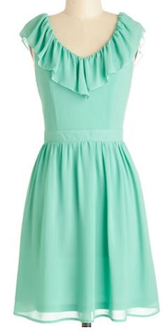 #Mint ruffle dress http://rstyle.me/n/gjxu6nyg6